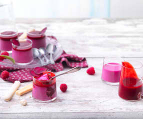 Pannacotta betterave-framboise