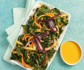 Kale Salad with Carrot and Ginger Dressing