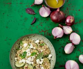Salada fria de quinoa e pepino