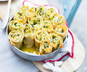 Lasagne roulées comme des cannelloni