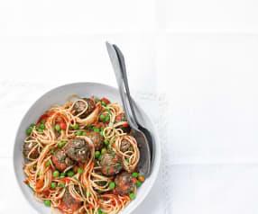Spaghetti aux boulettes