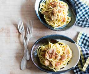 Spaghettoni à la carbonara
