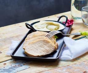 Rôti de porc à la sauge et purée de topinambour