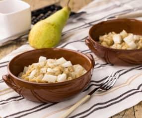 Spatzle integrali con pere e Gorgonzola
