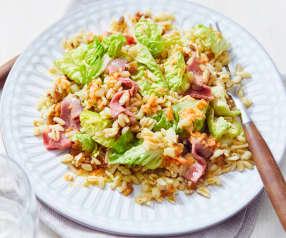 Sonnenweizen-Salat mit Möhren-Dressing