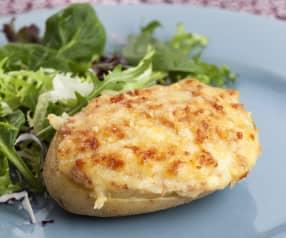 Patatas rellenas de gambas