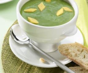 Zuppa di patate e spinaci