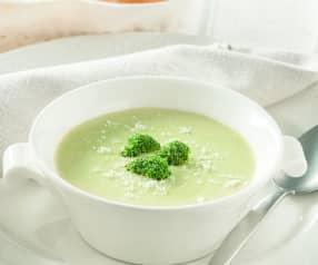 Crema verde con brócoli, puerro y patata