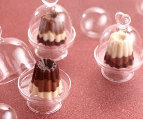 Bouchées aux trois chocolats