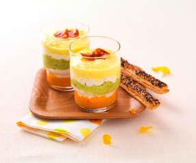 Paprika Tricolore im Glas