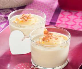 Crema suave de cebolla con sabayón de limón