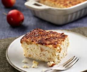 Jablečný nákyp s mléčnou rýží