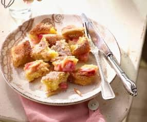 Rhubarb Pancake Pieces