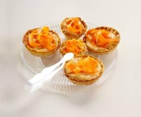 Mini-tartelette à la carotte et à la crème d'orange