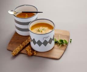 Krémová polévka s batáty a cizrnou