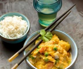 Curry thailandese veloce con pollo