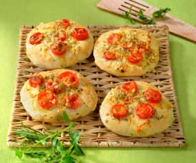 Pizzette mit aromatischen Kräutern
