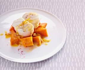 Cabillaud aux patates douces et à l'orange