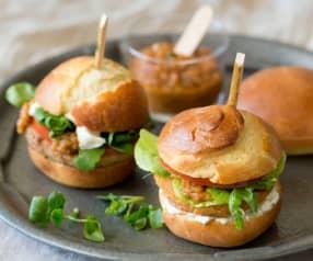 Sliders with Walnut or Sweet Potato Patties