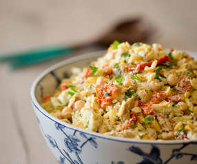 Orzo Salad with Artichoke and Feta