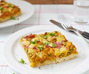 Pizza con masa de harina de arroz (sin gluten)
