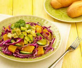 Kuřecí chilli salát s citrusy
