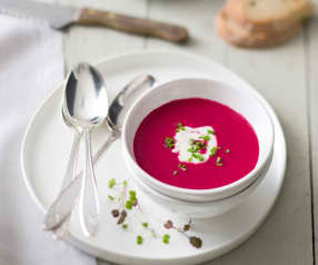Beetroot Gazpacho With Horseradish Créme