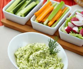 Dip ze sýru feta se zeleninou