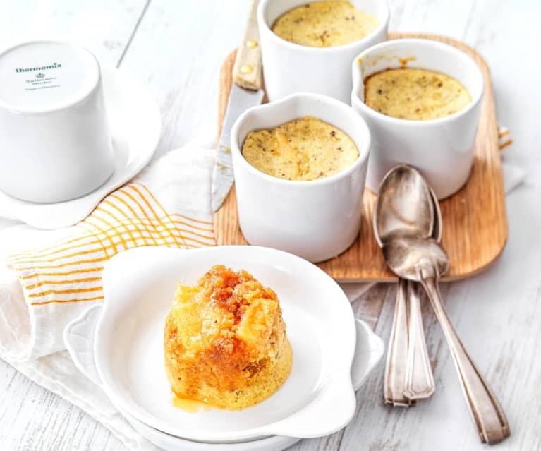 Ramequin cake vanille, ananas et caramel