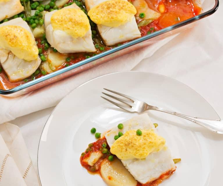 bacalao fresco en salsa de tomate thermomix
