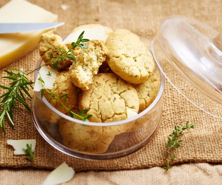 Cookies fleur de sel, parmesan et herbes de provence