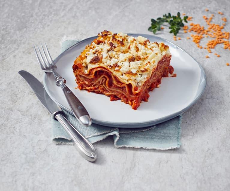 Vegetarische Linsen-Lasagne