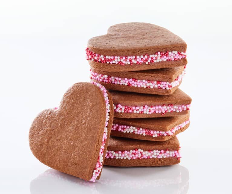 Antonio Bachour: Chocolate and Raspberry Heart Cookies
