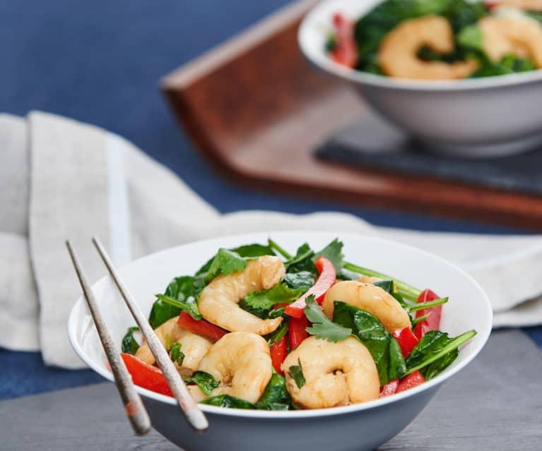 Quick prawn stir-fry