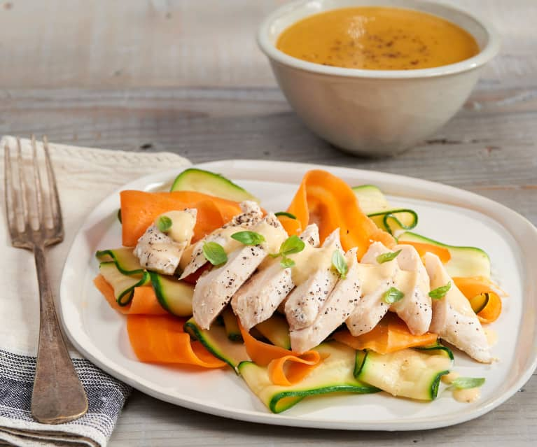 Chicken with Mustard Sauce and Vegetable Soup (TM6 Metric)