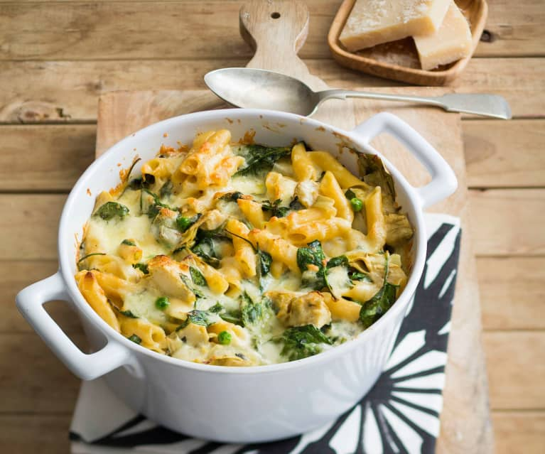 Spinach and artichoke penne