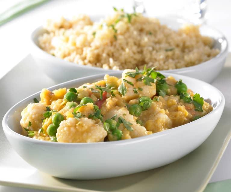 Blumenkohl-Kokos-Curry mit Bulgur