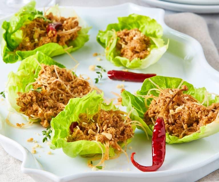 Tacos de lechuga Hunan