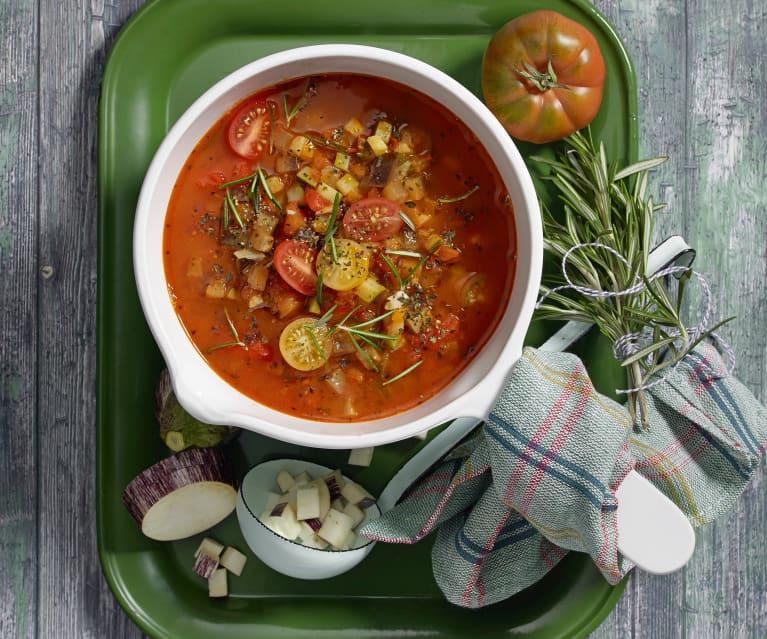Szybka zupa ratatouille