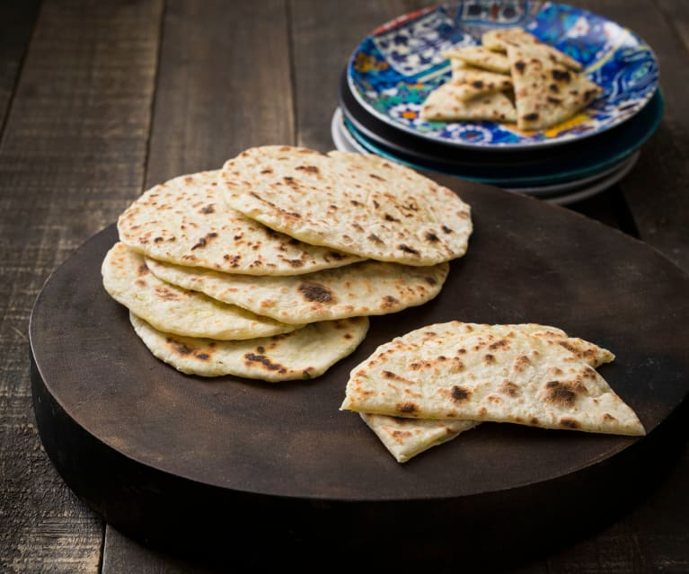 Green onion flatbreads
