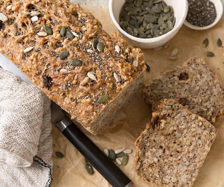 Pan de arroz integral con harina de espelta y semillas
