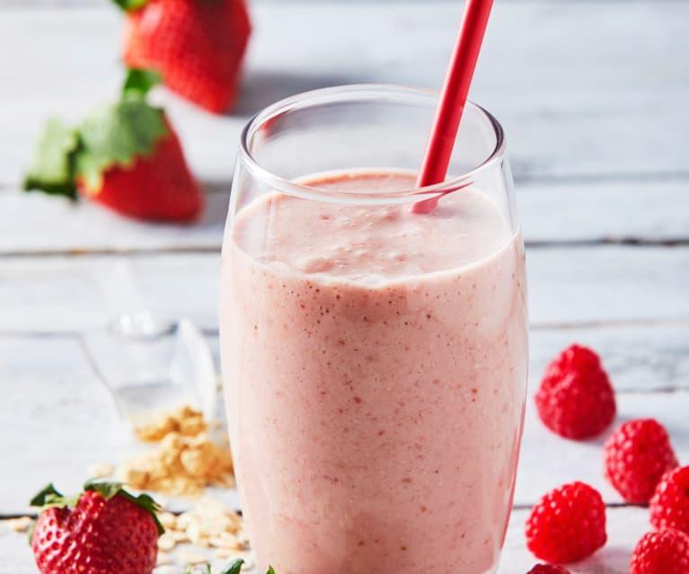 Smoothie pre-work out con frutos rojos y maca