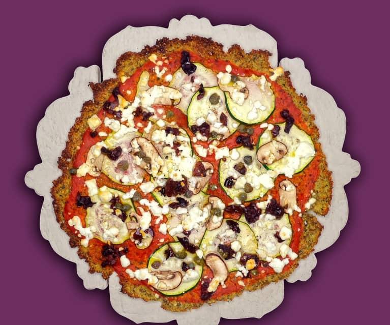 Low Carb Pizza mit Zucchini und Pilzen