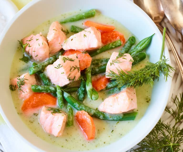 Buttermilch-Lachs-Suppe