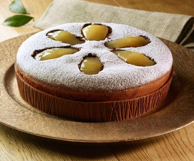 Torta pere e cacao all'olio extravergine di oliva di Luca Montersino