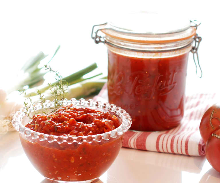 Salsa de tomate estilo italiano