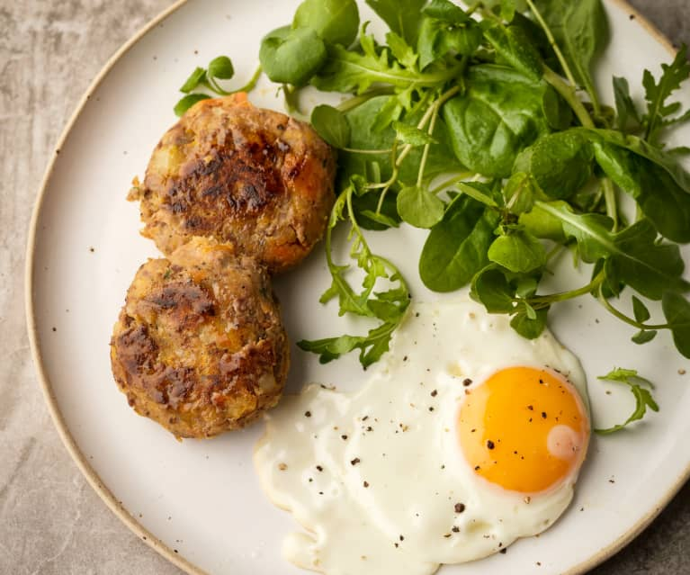 Leftover Roast Patties with Egg