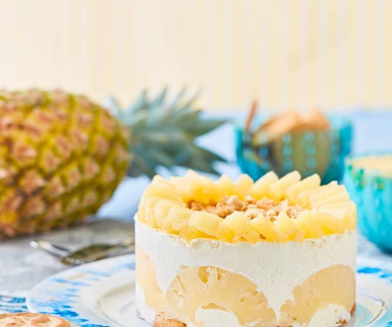 Torta semifreddo all'ananas (senza lattosio)