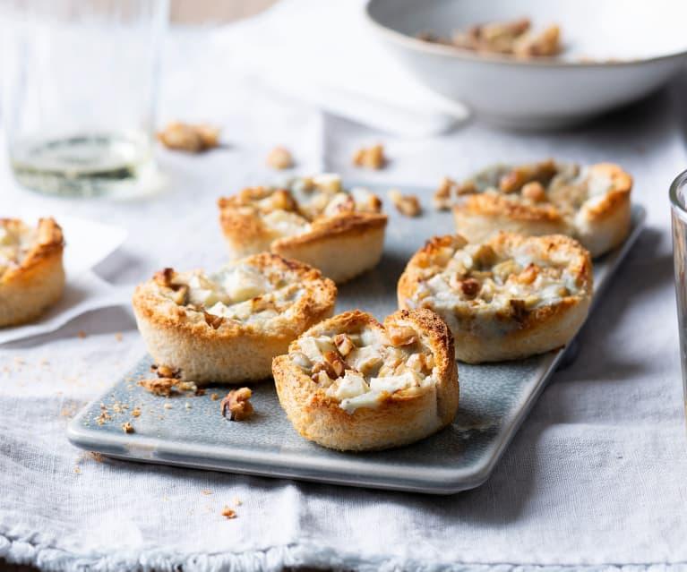Tartaletas de manzana y gorgonzola