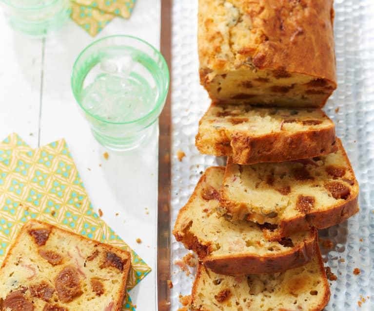 Cake aux figues, roquefort et jambon
